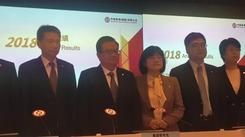 中銀香港(02388-HK)爭取2019年貸款業務有高單位數增長