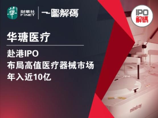 一圖解碼:華瑭醫療赴港IPO 佈局高值醫療器械市場 年入近10億
